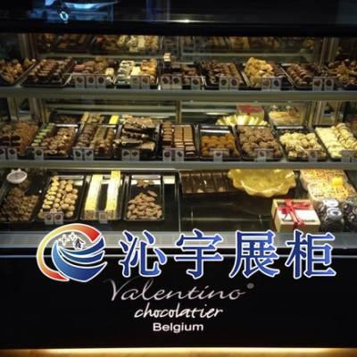 立式直角制冷展示柜/甜点保鲜柜/巧克力保鲜柜/甜品店设备(QKL)