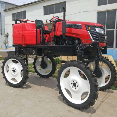 棉花玉米杀虫喷雾器价格 自走式四轮亚博正式官网 水旱两用农田打药车