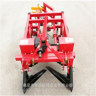 拖拉机后置花生收获机 宇晨加厚材质拔花生机牵引沙地链条式花生收获机批发价