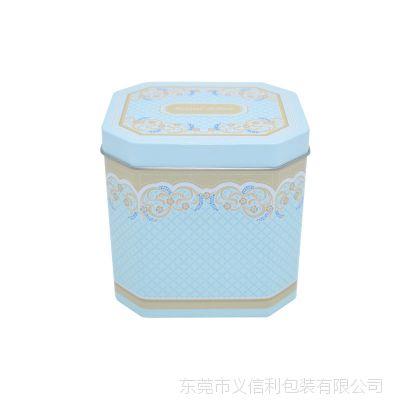 高档八角形曲奇饼干铁盒 异形阿胶固元膏礼盒定做 精美益生菌钙片马口铁罐