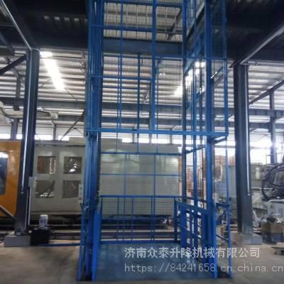 济南导轨式升降机厂家|超市专用装货平台|电动升降台|可根据使用环境定制