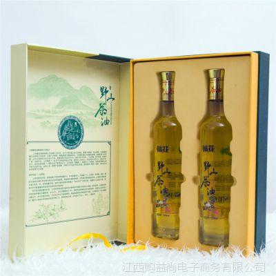 江西赣花山茶油500ML*2精品礼盒装 食用茶籽油 批发团购一件代发