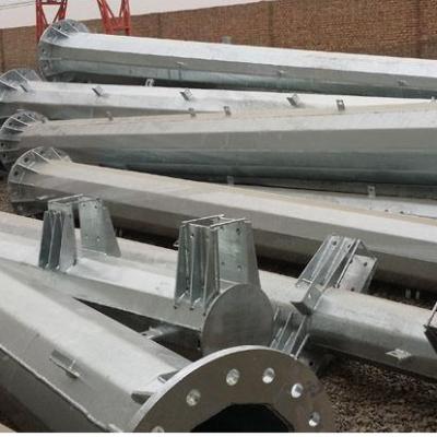 四平市三回路金属钢杆价格 三回路高压电力杆报价 霸州市顺通电力设备厂