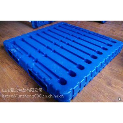 山东君众吹塑托盘,JZ-1412重型化工酸碱专用塑料栈板厂家价格