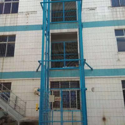 1台10米室外固定液压升降货梯 清远简易厂房工地升降平台