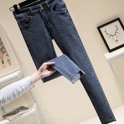 2019新款韩版流行尾货库存女装杂款小脚牛仔裤超低价批发