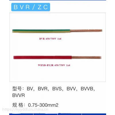 低烟无卤阻燃耐火辐照环保铜芯电线WDZCBN-BYJF