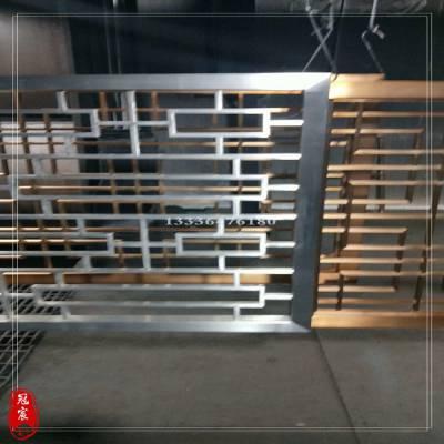 不锈钢折叠隔屏 餐厅装饰金属不锈钢折叠屏风 中式玫瑰金镜面隔断