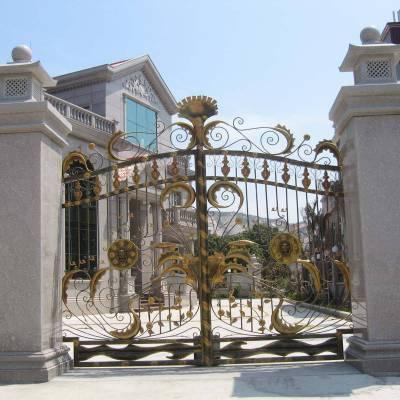 石材门柱装饰别墅自建房庭院大理石围墙门