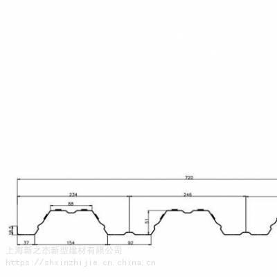 滨州市0.8mm厚YX51-246-720型开口楼承板生产厂家