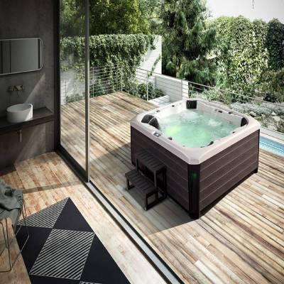 江苏奕华卫浴2540x2310x900mm泡澡神器超大型池网红亚克力正方形冲浪按摩浴缸
