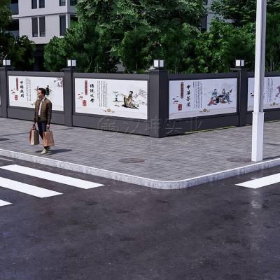 可移动市政临时围挡_活动移动围挡_多功能城市艺术围档_汉坤实业
