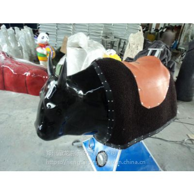 增添人气产品西班牙斗牛机 新型游乐设备黑色斗牛机 机械小型骑牛机器设备