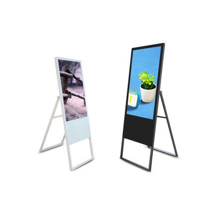 42寸电子水牌 折叠式轻薄液晶广告机 LED高清超薄轻便立式广告机 触摸一体机可选