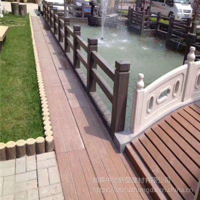 青岛景观水泥仿木护栏栏杆-种类齐全 价格便宜