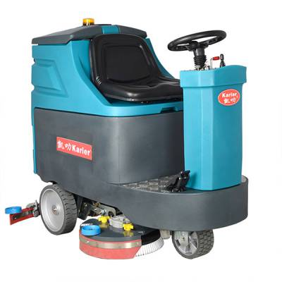 江苏无锡大型工厂车间用洗地机 无锡驾驶式洗地机价格 凯叻KL860驾驶式洗地吸干机