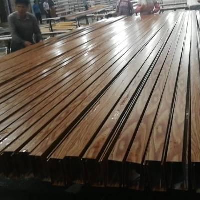 U型木纹热转印铝格栅 铝格栅亚博app官方厂家