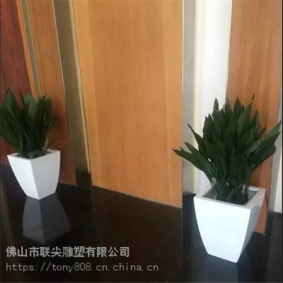 室内定制花盆造型玻璃钢雕塑-联尖雕塑