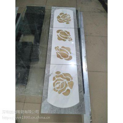 电梯轿厢玉石切割拼花。深圳沙井福永松岗石材切割