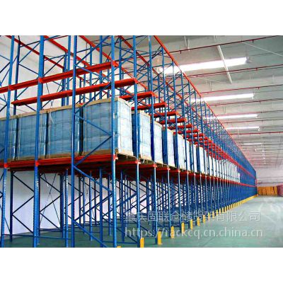 四层1-2吨/货位高位贯通式固联仓库货架,型号1.5*1*5.5m驶入重型货架,生产厂家价格