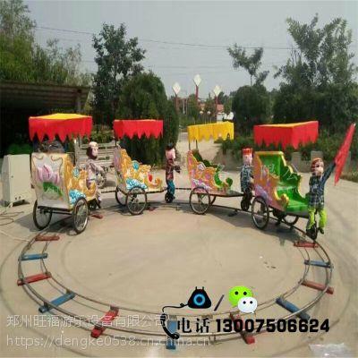戶外兒童主題游樂場炫彩動物轉轉車四節五節小猴子拉車游樂設備