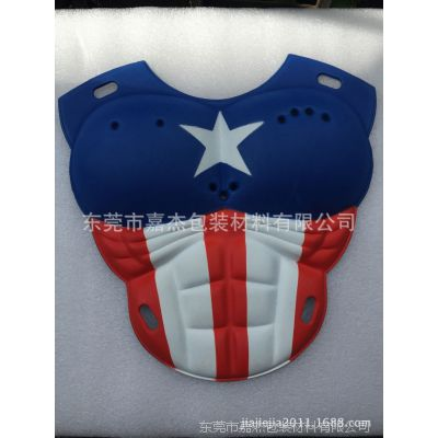 EVA胸肌 猛男假肌肉块 EVA美国队长护甲 超人EVA衣服胸肌片加工