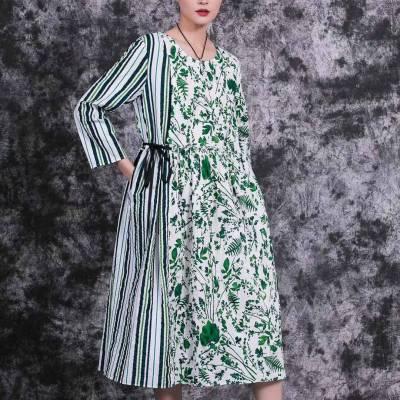 女装货源原创设计师品牌谷研大码女装连衣裙19夏折扣走份