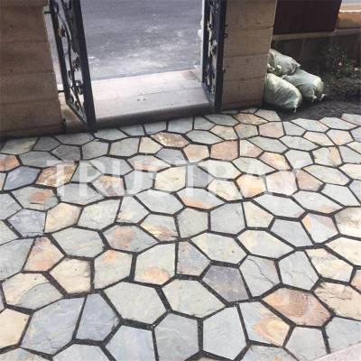 石板碎拼|冰裂纹价格|多边形地铺石材-江西诚磊