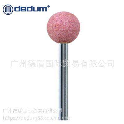 台湾德盾 红刚玉砂轮磨头打磨头金属磨具抛光球形磨头PA 柄3/6mm
