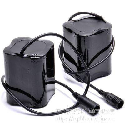 锂电池厂家直销 T6自行车灯锂电池 7.4V 5200mAh足容锂电池 蓝牙音箱电池