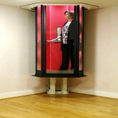室内家用别野/阁楼2层、3层简易家用观光电梯、无需机房简易电梯、别野电梯、家用电梯厂家、厂家免费安装