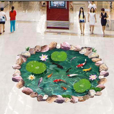 椰树海洋景色玻璃瓷砖3D地砖产品性价