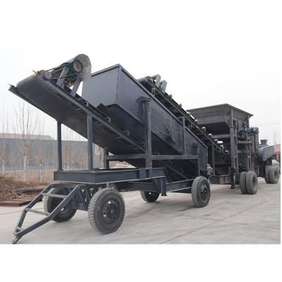 大型移动石料破碎生产线 建筑垃圾破碎站 石子制砂机 轮胎式碎石机