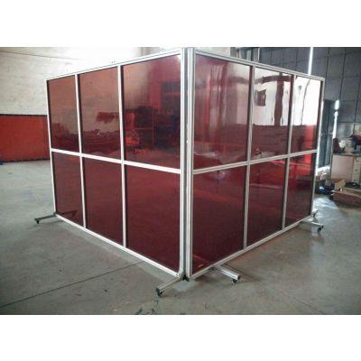 透明耐力板机器人防护罩弧焊房
