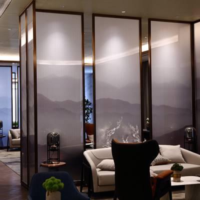 夹丝玻璃,山水画玻璃来郑州誉华