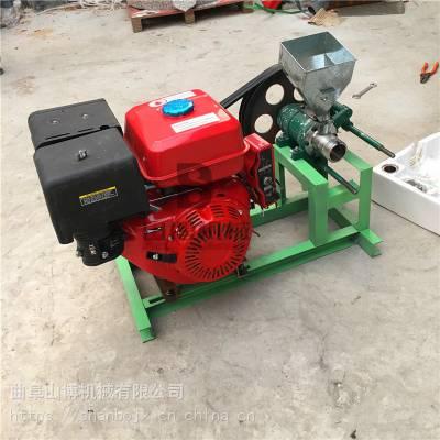 电启动柴油机空心棒麻花膨化机 杂粮谷子爆花机