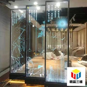 甘肃靓丽玻璃内雕刻加工 个性定制 价格实惠