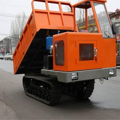 小型履带拉土车 3吨履带自卸车