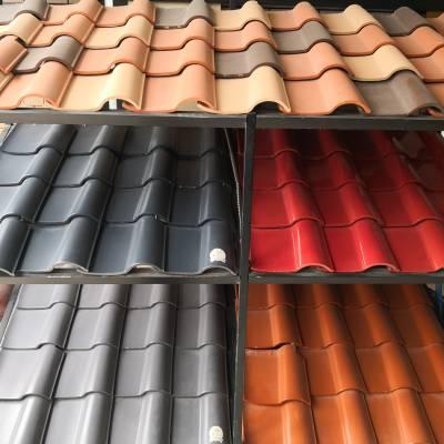 厂家供应陶瓦彩色屋面瓦专业做瓦二十年
