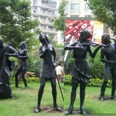 仿铜人物雕塑厂家 商业街公园休闲人物雕塑工艺品