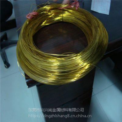 黄铜螺丝线 H65环保黄铜圆线