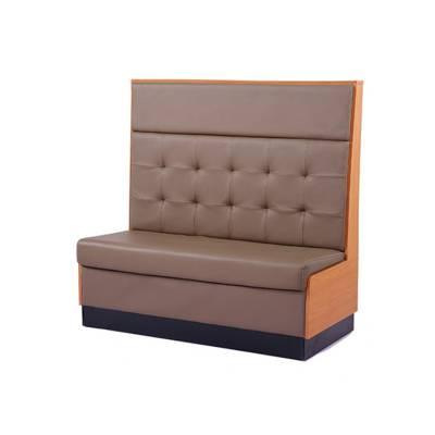 美式牛排餐厅个性造型板式卡座沙发