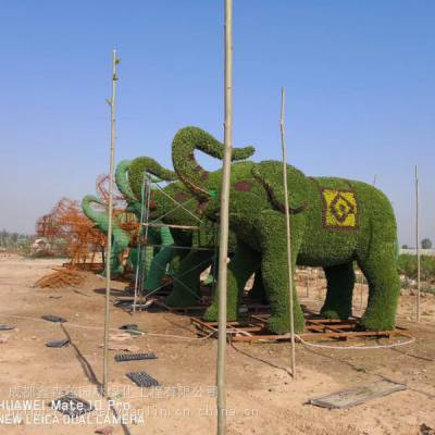 成都仿真植物绿雕造型 仿真植物雕塑厂家出售大小都有哦