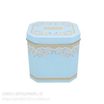 义信利yx115异型益生菌铁皮盒 八角形儿童辅食铁盒 定制糖果饼干食品包装盒 精美五谷代餐粉盒子