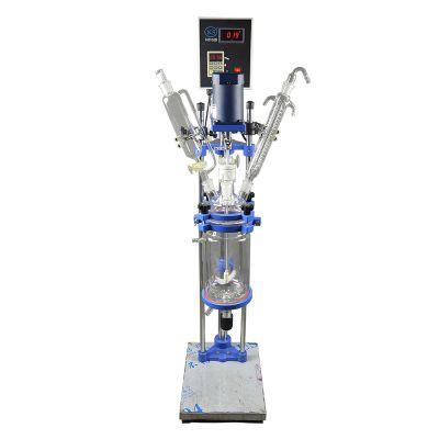 上海科升仪器S212-5L双层玻璃反应釜 高温制冷夹套釜