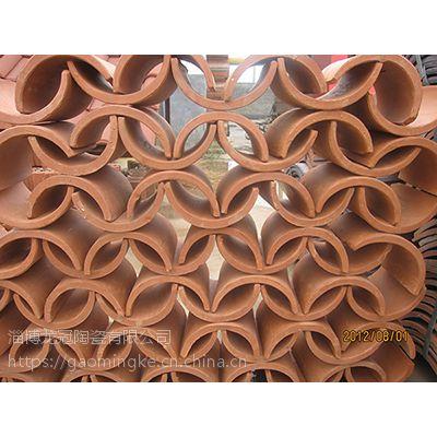 山东淄博陶瓷陶土花窗瓦厂家销售,花窗瓦、花墙瓦