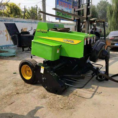 农业秸秆打包机 自动捡拾方形捆草机 玉米秸秆收割粉碎打捆机 鸿磊机械