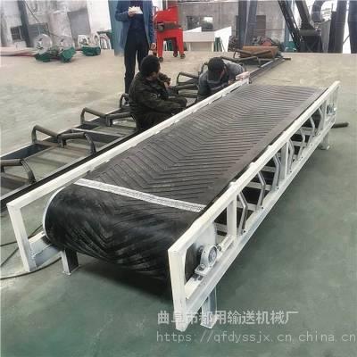 黄豆装车皮带输送机 宜城市饲料输送机 装卸车两用型皮带机qk