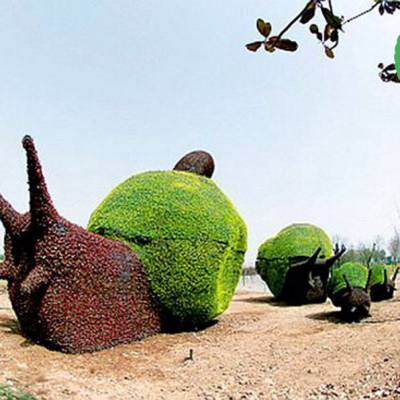 吉安70周年市政景观怎么制作_仿真绿雕价格_铭泽工艺