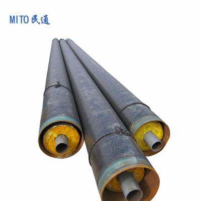 dn125管道输送蒸汽 集中供热保温管 钢套钢保温管厂家